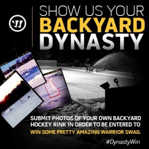 Warrior Wants Pictures of YOUR Backyard Rink