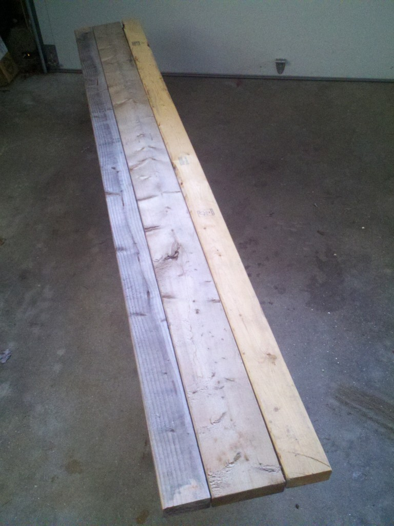 How To Build A Backyard Rink Bench for $20 (or less)
