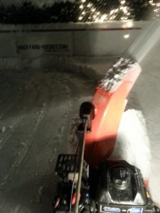 "You call it ""snowblowing the rink"". We rinkbuilders call it ""date night""."